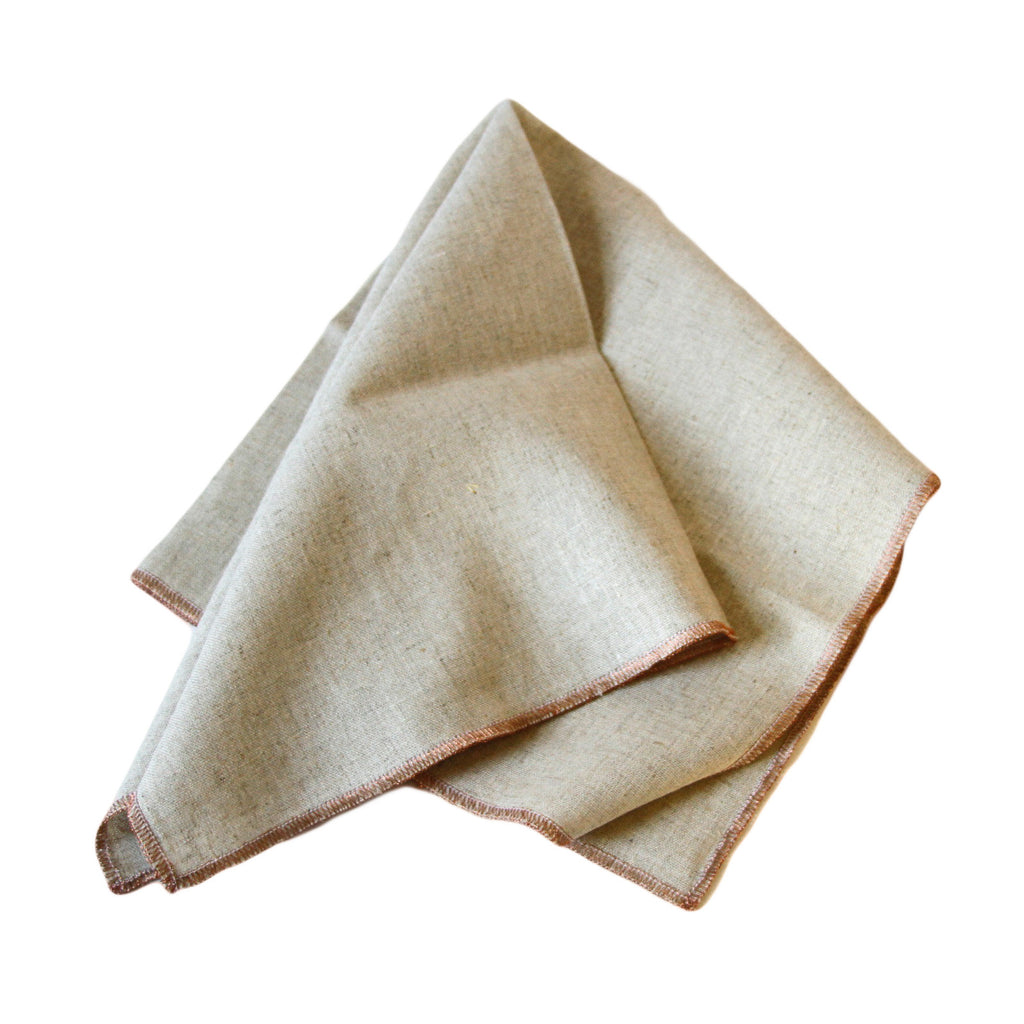 Linen Napkin with Copper Accent (Set of 4)