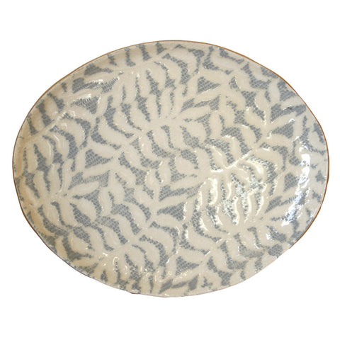 Small Oval Platter in Opal Fern