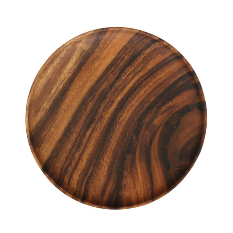 Round Wood Dinner Plate
