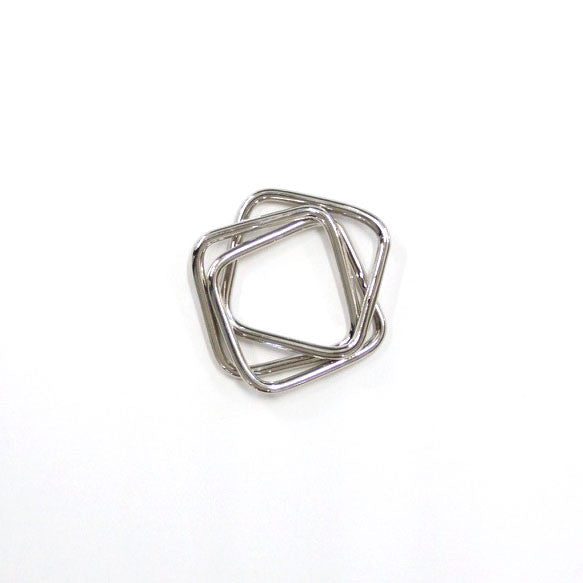 Three Squares Silver Napkin Ring (S/4)