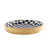 Terrafirma Wine Coaster in Cobalt Dot