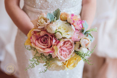 bridal bouquet, blush flowers, throw bouquet, pink bouquet, rustic bouquet, keepsake bouquet, brooch bouquet,