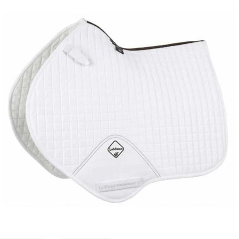 LeMieux ProSport Close Contact Suede Saddle Pad - White