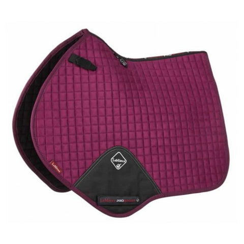 LeMieux ProSport Close Contact Suede Saddle Pad - Plum