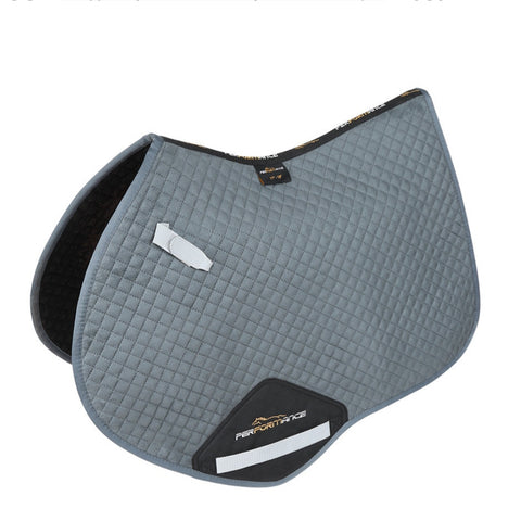Shires Performance Suede Jumping Saddle Pad - Grey