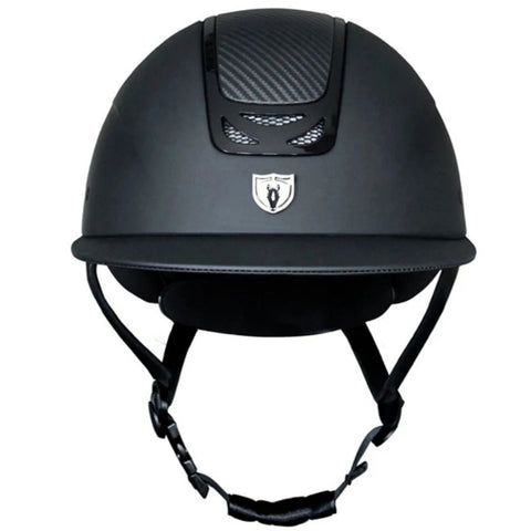 Tipperary Royal Helmet - Black Carbon Leather