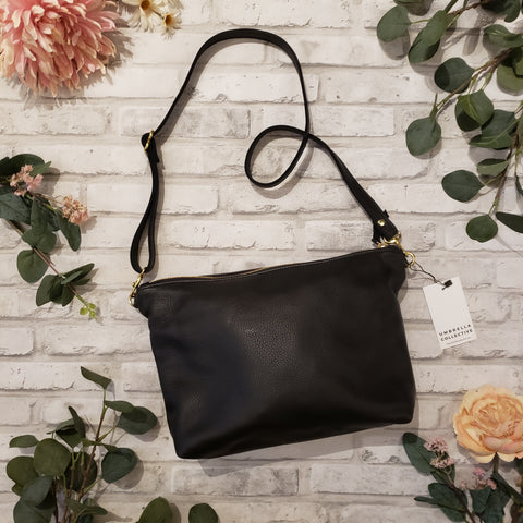 Umbrella Collective Midi Hobo Bag - Black