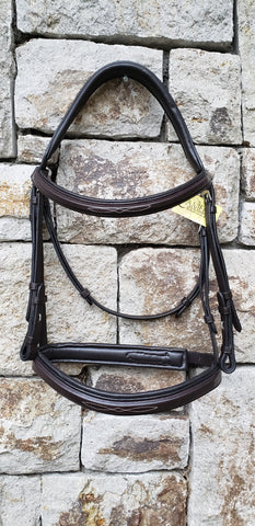 Camelot Fancy Stitched Wide Nose Comfort Bridle