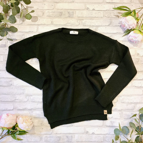Blissful Blenheim Knit Sweater - Black