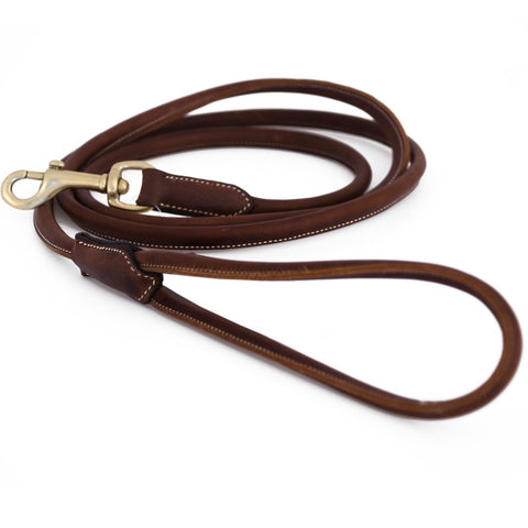 Alba Rolled Leather Dog Leash