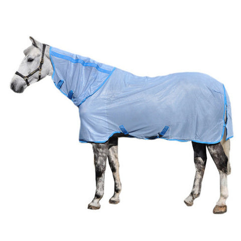 Amigo Fly Sheet Bug Rug on A White Horse
