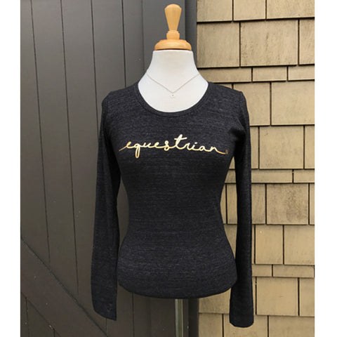 Equestrian Gold Foil Long Sleeve