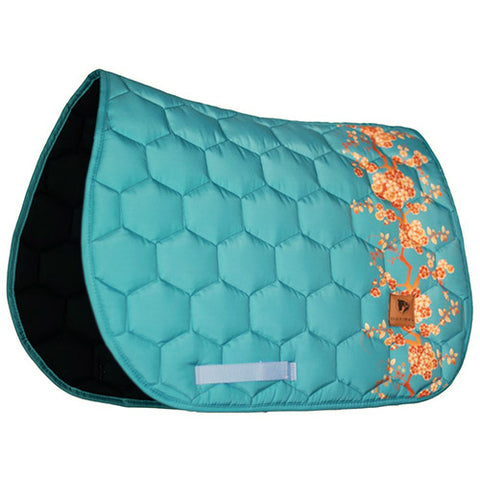 Dotibel Turquoise Orange Flowers Jump Pad