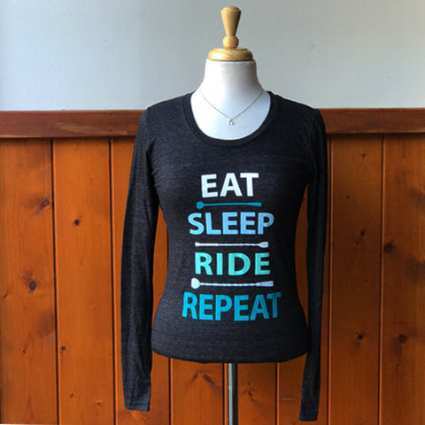Eat Sleep Ride Repeat Long Sleeve Blissful Equestrian