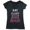 Eat Sleep Ride Repeat Tee - Pink