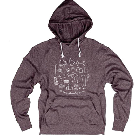 It's the equestrian life for me - Tri-Blend Light Hooded Sweatshirt