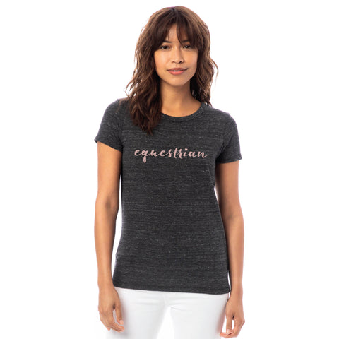 Equestrian Tee - Rose Shimmer
