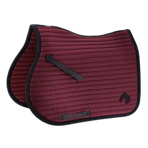 Jacson Seattle Jump Saddle Pad Burgundy