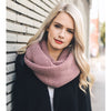 Blissful Knit Infinity Scarf - Rose