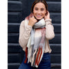 Blissful Soft Felt Fringe Scarf - Rust