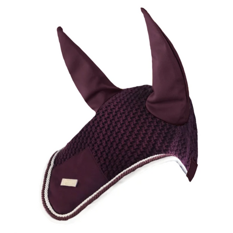 Equestrian Stockholm Purple White Edge Bonnet