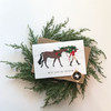 Eat and Be Merry Equestrian Horse Holiday Greeting Card