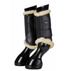 LeMieux Fleece Brushing Boots Black/Natural - Becky