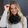 Blissful Knit Infinity Scarf - Charcoal