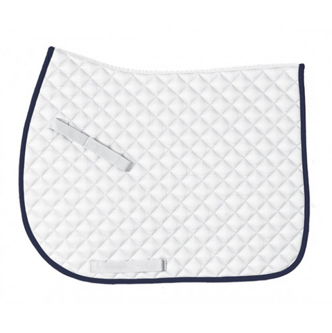 Centaur Everday Jump Saddle Pad - White/Navy