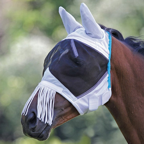 Fine Mesh Fly Mask with Ears and Nose Fringe