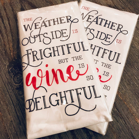 Wine is Delightful Kitchen Towel