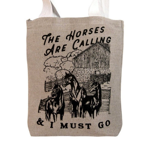 The Horses are Calling Tote