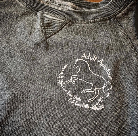 Adult Amateur Vintage Sweatshirt - Charcoal