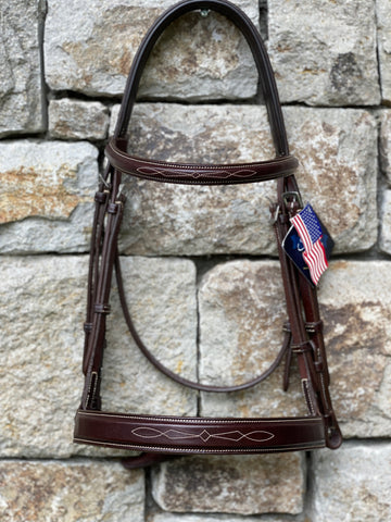 Ovation Wide Flat Noseband Bridle