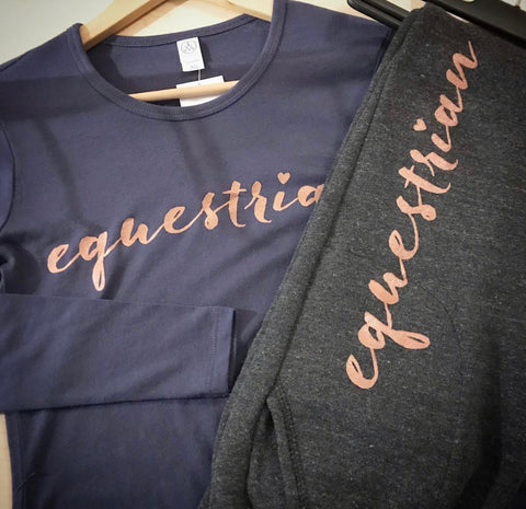 Equestrian Long Sleeve - Rose Gold