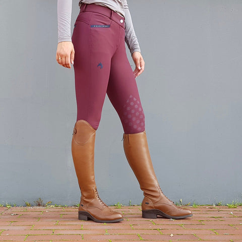 Jacson Hedvig Knee Grip Breech - Burgundy