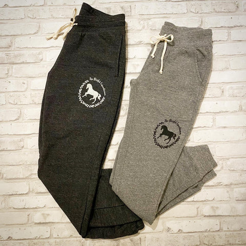 Blissful Horse Sweatpants - Light Grey