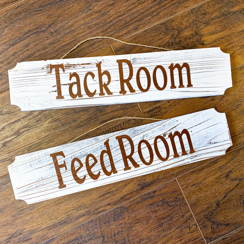 Tack/Feed Room Signs