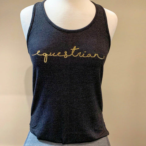Equestrian Gold Foil Terry Tank