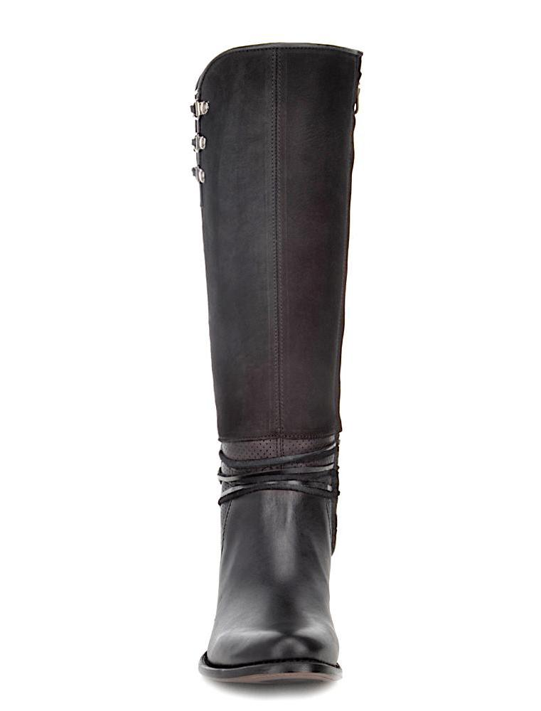 Durable Cuadra handmade black leather western riding women's boots in Vancouver and Canada
