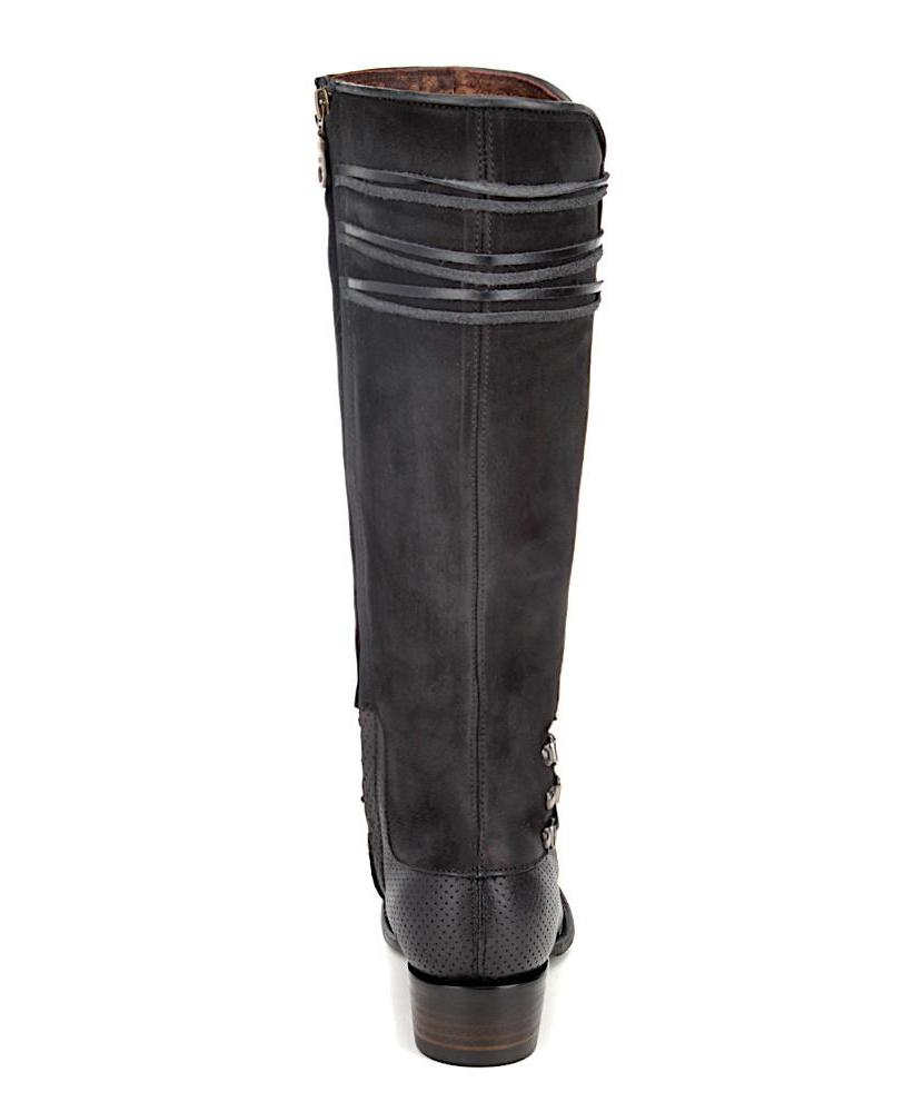 High quality Cuadra handmade black leather western riding women's boots in Vancouver and Canada
