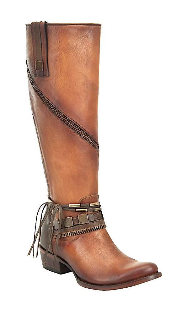 Stylish Cuadra zipped riding boot for women handmade of brown leather in Vancouver and Canada