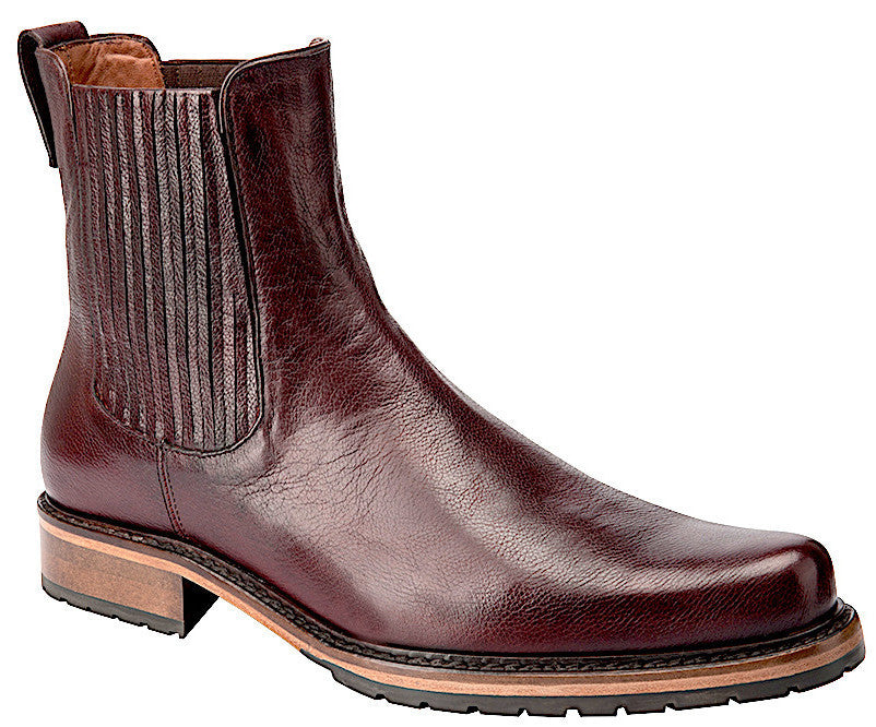 Cuadra handmade quality men's Chelsea burgundy wine leather boot in Vancouver and Canada