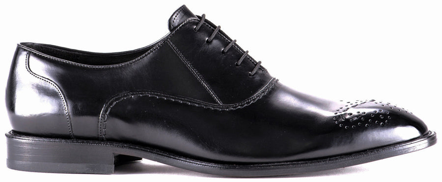 Cuadra handmade black calf dress oxford men's shoes in Vancouver and Canada