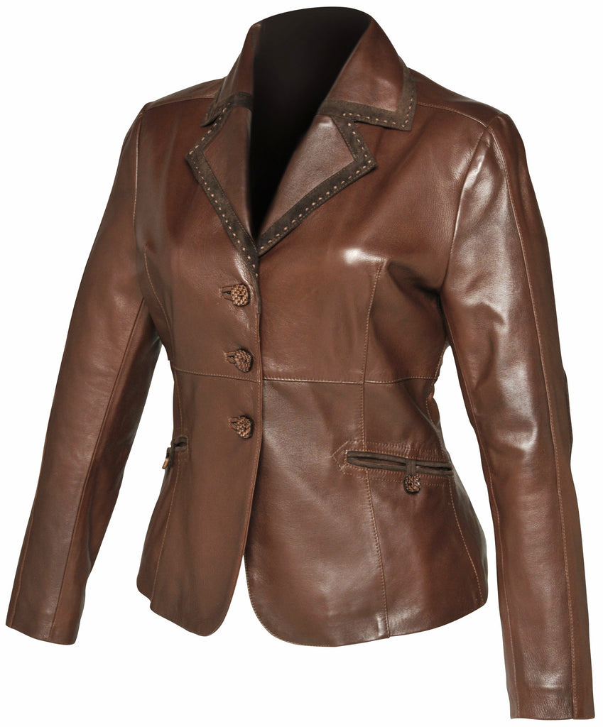 d81dd103b78a Cuadra Handmade Women's Riding Leather Jacket – Xixo Leather Artistry