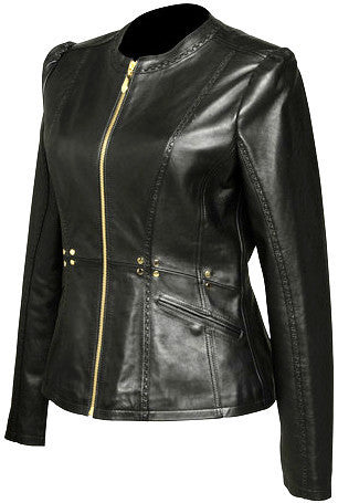 Lamb Studded Biker Jacket
