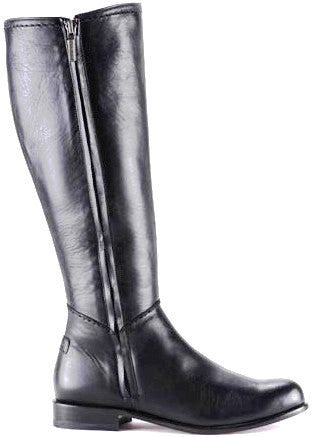 Unique Cuadra handmade women's black leather riding boots in Vancouver and Canada