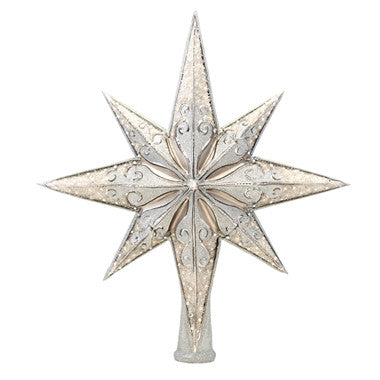 Silver Stellar - Christopher Radko INVENTORY COMING SOON