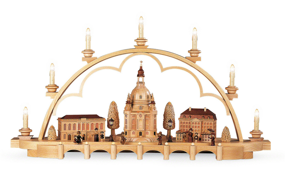 Old Dresden - Light Arch/Schwibbogen by Müller Kleinkuns