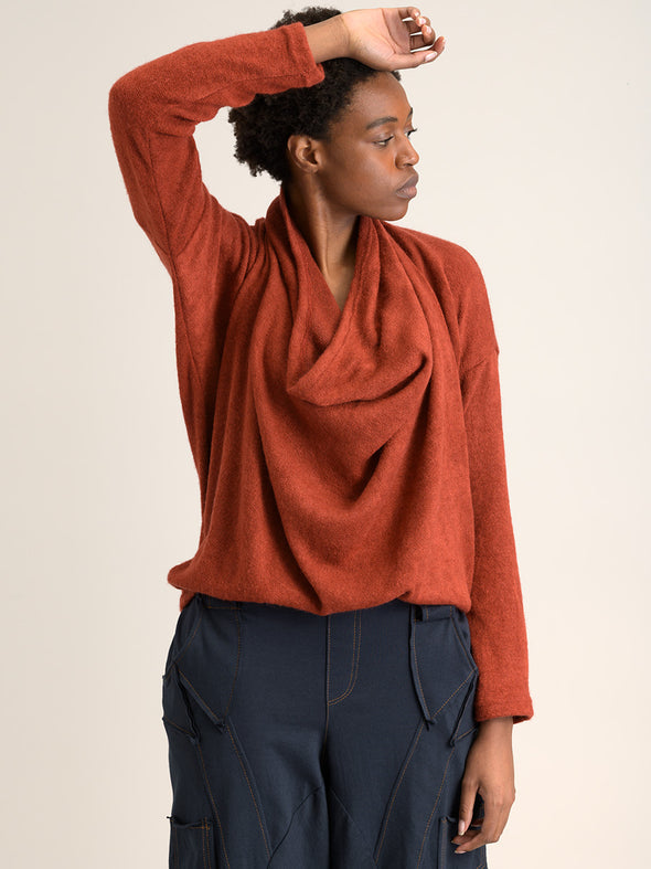 Draped Front Knitted Top - Forgotten Tribes